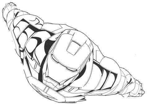 Flying Iron Man Free Coloring Page O Avengers