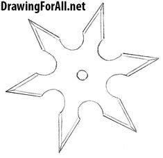 throwing star ninja star knife drawing shuriken