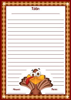 thanksgiving printable worksheets colorful fall autumn  november creative writing