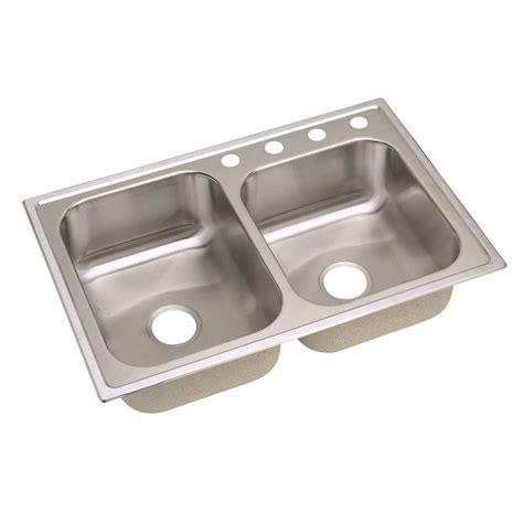 elkay kitchen sinks elkay signature drop in stainless steel 33 in 4 7044