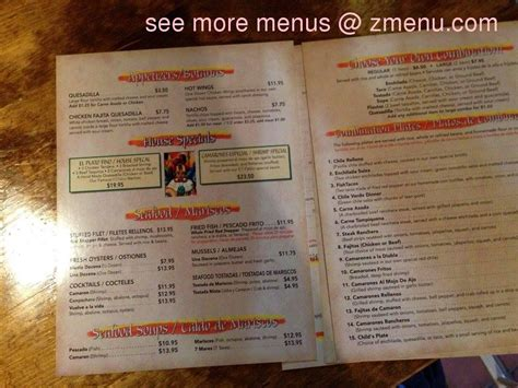 El Patio Restaurant Menu by Menu Of El Patio Restaurant Restaurant Lindsay