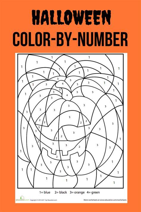 halloween color  number  images halloween