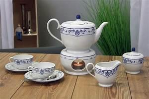Teeservice Mit Stövchen : tee service 8tlg atlantis friesisch blau friesland porzellan made in germany ~ Yasmunasinghe.com Haus und Dekorationen