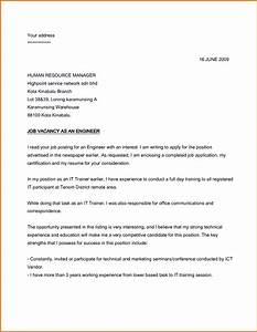sample application letter for job applyreference letters With examples of a covering letter for a job application