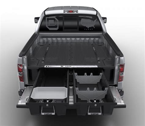 truck bed storage box with decked pickup truck storage