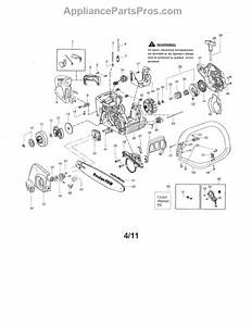 Parts For Poulan Pp4218avx Type 2  Chassis    Bar    Handle Parts