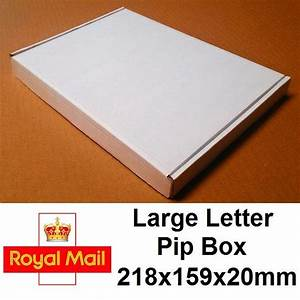 White large letter 218x159x20mm 25 pack die cut for Large letter die cuts