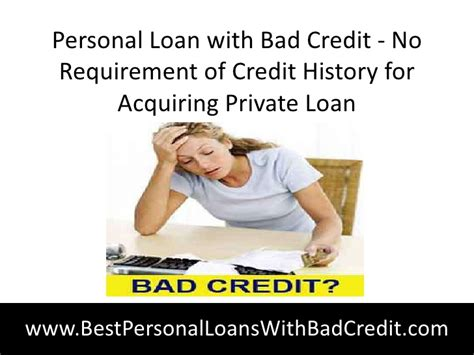 Personal Loan With Bad Credit No Requirement Of Credit