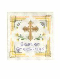 Easter Cross Card Cross Stitch Kit