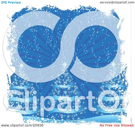 clipart illustration   blue christmas background