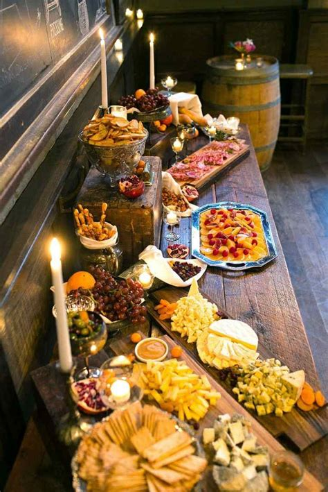 table mountain seafood buffet décoration mariage automne pour une journée magique
