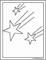 Star Coloring Shooting Pages Printable Stars Pdf Colorwithfuzzy sketch template