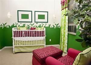 Rideaux Vert Sapin : chambre b b fille en nuances de vert inspirantes ~ Teatrodelosmanantiales.com Idées de Décoration