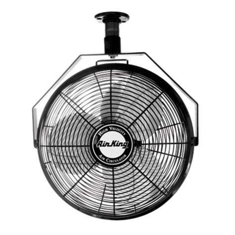 high velocity ceiling fan air king 9718 18 quot 1 6 hp industrial grade high velocity
