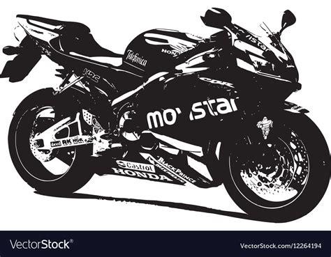 Honda Racing Bike Royalty Free Vector Image