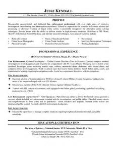 Guaranteed Resumes by Exle Enforcement Resume Free Sle