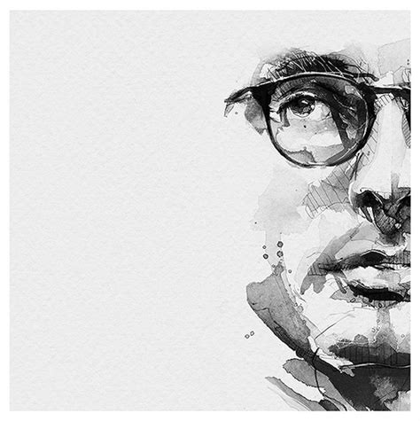 Abstract Black And White Portrait by Spontaneous And Realistic Black And White Pencil Portraits