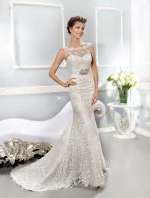 best wedding dresses for brides 2014 collection best selling illusion neckline covered button mermaid sheath lace wedding