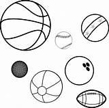 Balls Sports Game Coloring Basketball Ball Baseball Bowling Clip Beach Benefits Children Adults Pixabay Clipart Clker Inflatable Vector Cirdan Soccerball sketch template