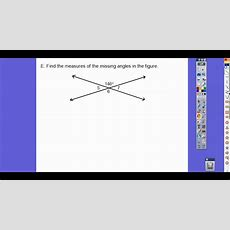 Angles Formed By Intersecting Lines  Module 141 Youtube