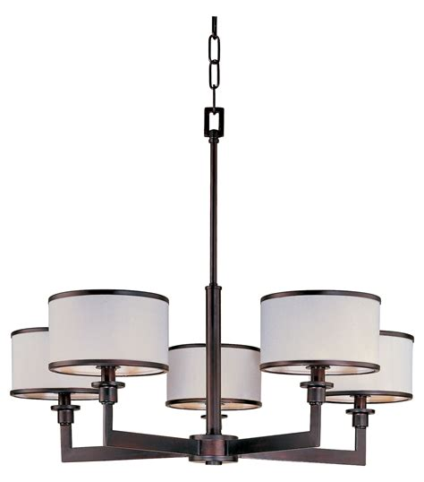 maxim five light rubbed bronze drum shade chandelier
