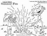 Coloring Pages Sprinkler Printable Summer Fun Milo Lulu Mayhem Cool Playing Characters Featuring Absolute Sprinklers Children sketch template