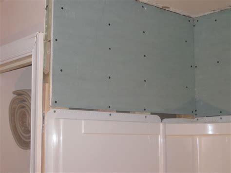 bathroom   tile  shower wall surround flange
