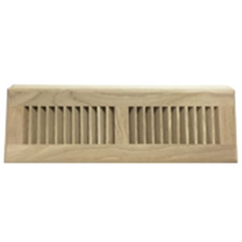 White Oak Wood Baseboard Register   Air Vent Diffuser