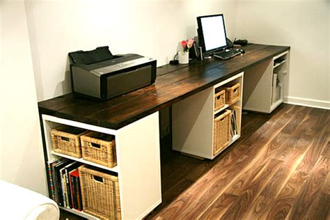 large home office desk large diy desk with storage shelves decoist