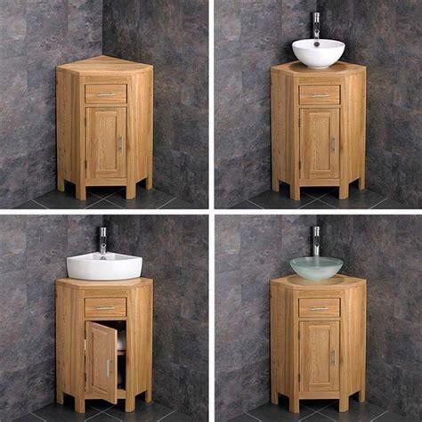 Oak Corner Bathroom Cabinet by Solid Oak Corner Bathroom Vanity Unit Cabinet Ceramic Bowl
