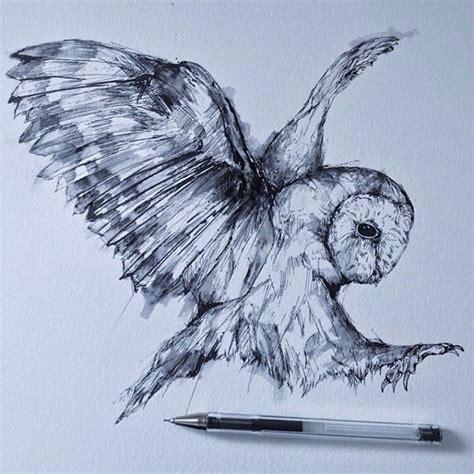 flying barn owl drawing alfred basha owl r 243 żności owl and
