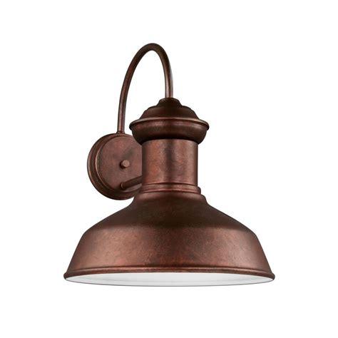 sea gull lighting fredricksburg 1 light weathered copper