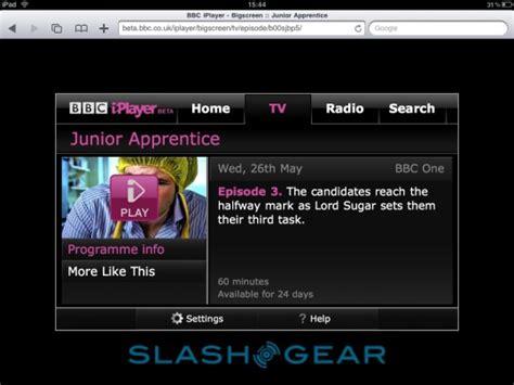 bbc iplayer app  ipad due february   version  june  slashgear
