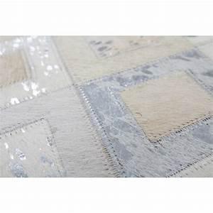 tapis peau de bete quotgris et argentquot pas cher tapis peau With tapis gris argent