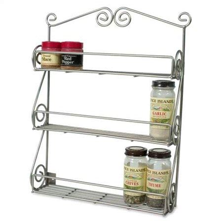 Scroll Spice Rack by Spectrum Diversified Scroll Wall Mounted Spice Rack In