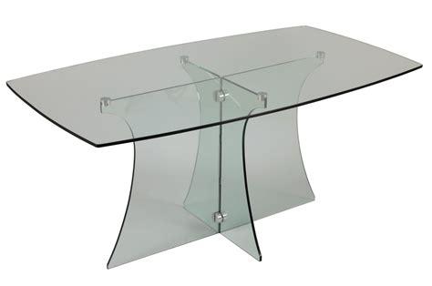 table a manger en verre trempe table de salle 224 manger en verre tremp 233 trendymobilier
