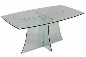 table de salle a manger en verre trempe trendymobiliercom With table salle a manger en verre