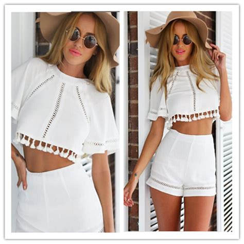 White Dress Shorts Womens - The Else