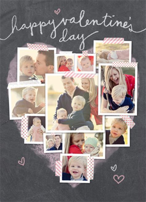 heart shaped photo collage valentines day card cardstore
