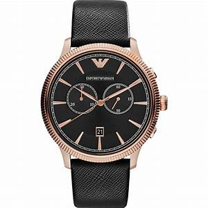 AR1792 Emporio Armani Mens Classic Black And Rose Gold Watch