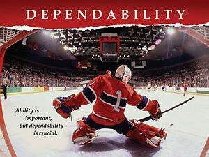 Hockey Goalie DEPENDABILITY Inspirational Motivational ...