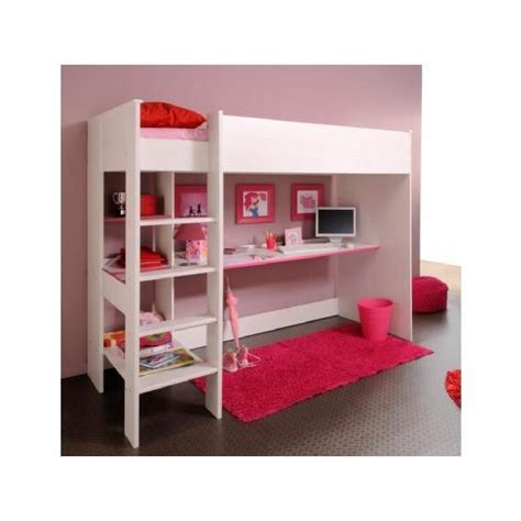 lit mezzanine avec bureau et rangement achat vente lit