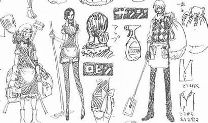 Piece Robin Nico Sanji Anime Character Sheet