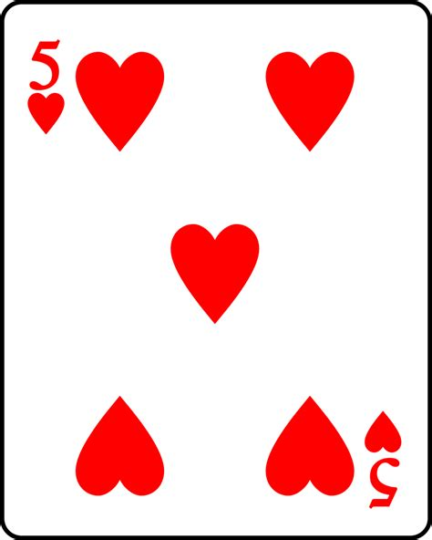 hearts card file playing card heart 5 svg wikipedia