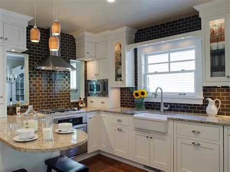 subway tile kitchen backsplash ideas photo page hgtv