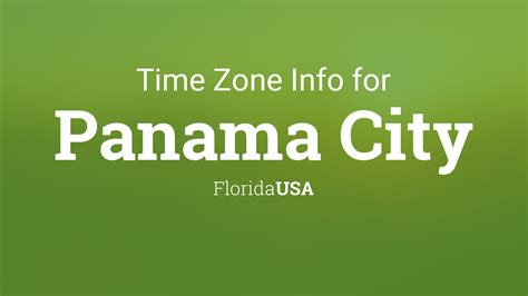 time zone clock   panama city florida usa