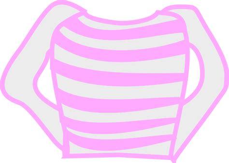 pink striped long sleeve shirt clip art  clkercom