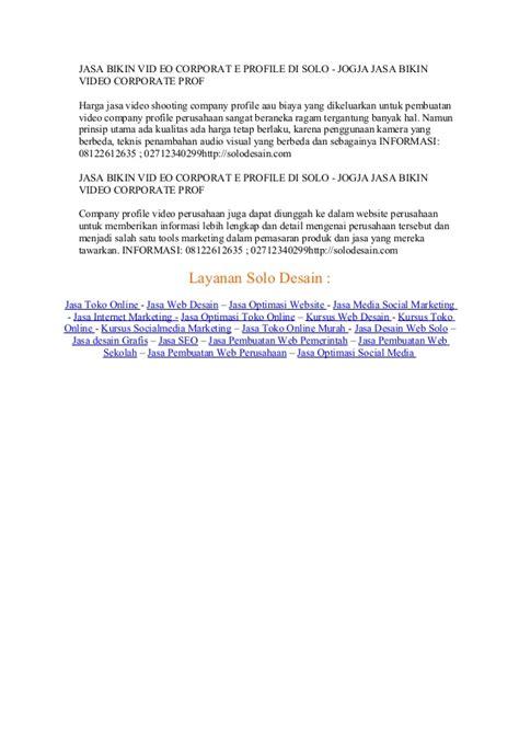 jasa pembuatan video company profile perusahaan