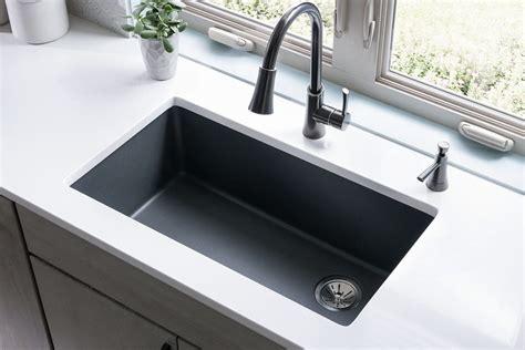 spotlight  quartz kitchen sink collections  elkay abode