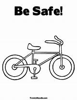 Coloring Safety Pages Bicycle Choking Popular Template sketch template